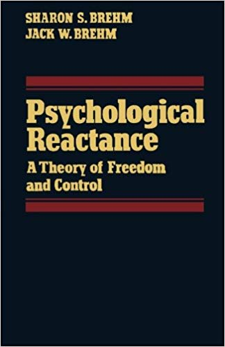 "Cover of ""A Theory of Psychological Reactance"" book"
