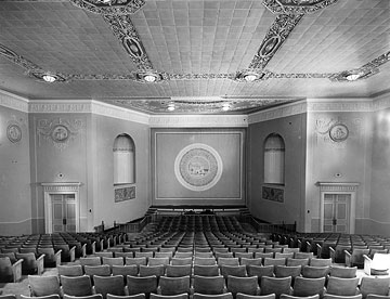 The interior of Lincoln Hall theater